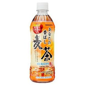 サンガリア あなたの香ばし麦茶 500ml 24個セット