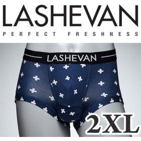 ラシュバン LASHEVAN プレミアム アンダーウエア ボクサーパンツ パンツ LS0117-CRB クロスブルー/2XL