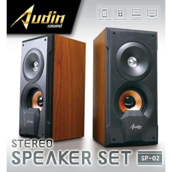 Audin sound ステレオスピーカーセットSP02 KK-00439 ピーナッツクラブ スピーカー ステレオスピーカー ステレオ(D)