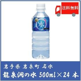 送料無料 龍泉洞の水 ペット 500ml 24本 1箱