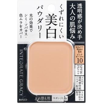 資生堂 インテグレート グレイシィ ホワイトパクトEX ピンクオークル10 赤みよりで明るめの肌色 (レフィル) 11g