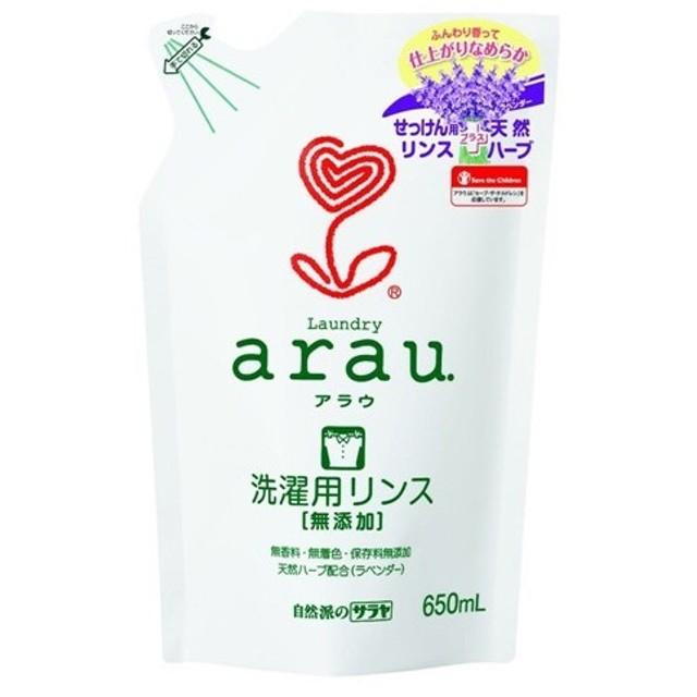サラヤ arau(アラウ) 洗濯用リンス仕上げ 詰替650ml【お一人様12点限り】