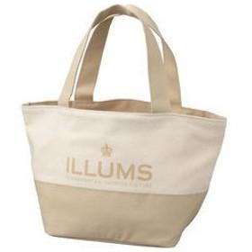 ILLUMS/イルムス  ロゴトートバッグ/ベージュ/B−ILL15525BE