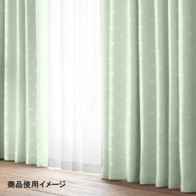 ドレープ カラーキャット グリーン 幅100×丈135cm 2枚組