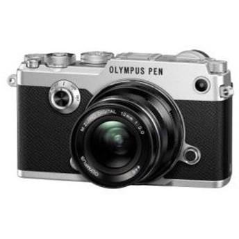 オリンパス <PEN>OLYMPUS ミラーレス一眼カメラ PEN-F・12mm F2.0レンズキット(2030万画素/シルバー) PEN-F.S_1220B 代引不可