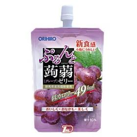 ぷるんと蒟蒻ゼリー スタンディング グレープ味 オリヒロ 130g