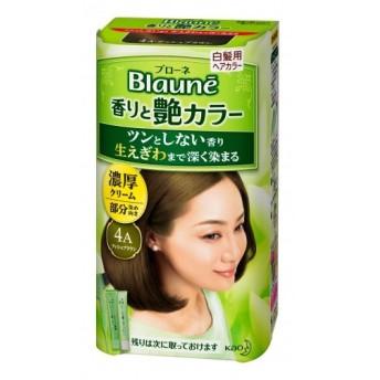 【医薬部外品】ブローネ香りと艶カラークリーム 濃厚クリーム 4A アッシュブラウン