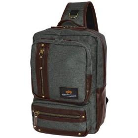 アルファインダストリーズ(ALPHA INDUSTRIES) Hemp cloth style LE-Z 麻 ボディバッグ カーキ 04964 通勤通学 バッグ 鞄 カジュアル バック