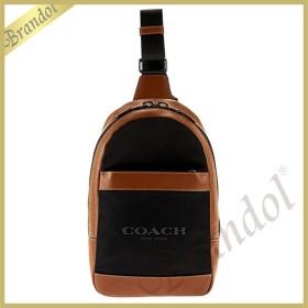 コーチ COACH メンズ ボディバッグ ナイロン×レザー ブラウン×ブラック F59320 FD7 【コーチアウトレット】 [在庫品]