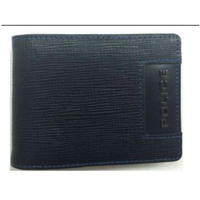 POLICE(ポリス) ADVANCE 二つ折り財布 ブラック PA-58202-10【並行輸入品】【メール便不可】