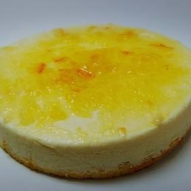 洋なしとオレンジの レアーチーズケーキ