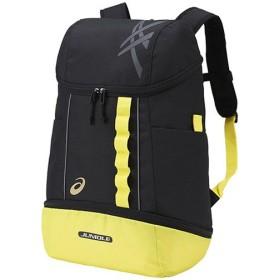 アシックス(asics) JUNIOLE バックパック 3 L ブラック×イエロー EBA621 スポーツ バッグ リュック 鞄