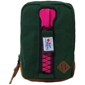 ジムマスター(gymmaster) メカジップボディバッグ グリーン×ピンク G239572 アウトドア スポーツ 通勤通学 鞄 バック