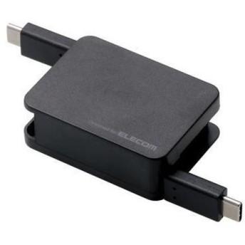 エレコム USB2.0ケーブル 巻取り、C-C MPA-CCRL07BK