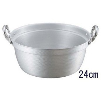 nakao/中尾アルミ製作所  キングアルマイト 打出 料理鍋(目盛付)24cm