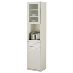 食器棚YC (幅40.4×高さ180cm) プレーンホワイト  YC-S400R パモウナ (TD)