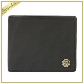 ディーゼル DIESEL 財布 メンズ 二つ折り財布 HIRESH S レザー ブラック X04381 PR013 T8013 [在庫品]
