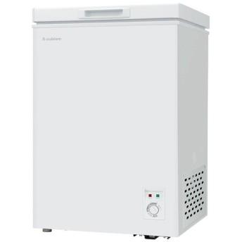S-cubism チェスト型冷凍庫 上開き式 98L ホワイト WFR-C1100 エスキュービズム 冷凍庫 小型 おすすめ (D)