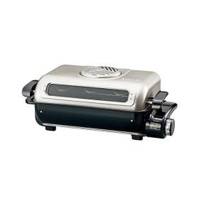 象印(ZOJIRUSHI)EF-VG40-SA 横長ワイド庫内 両面焼き フィッシュロースター [シルバー] 分解洗い&プラチナ触媒フィルター