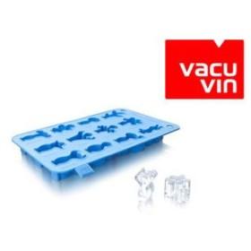 vacuvin(バキュバン)ユニークなキャラクターが氷やゼリーに アイス&ベイキングトレー ブルー(パーティやイベントに)(メール便不可)