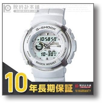 G-SHOCK Gショック カシオ CASIO STANDARD G-SPIKE ホワイト×ホワイト 腕時計 G-300LV-7AJF(予約受付中)