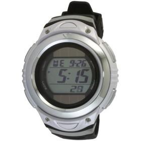 クレファー(CREPHA) ソーラーウォッチ ホワイト FDM7660-WT 腕時計 デジタル時計 クロノグラフ 5気圧防水