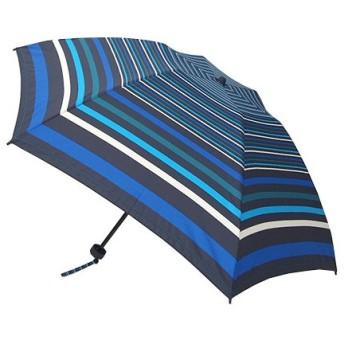 東急ハンズ hands+ 17 新簡単開閉折りたたみ傘 50cm ボーダーブルー