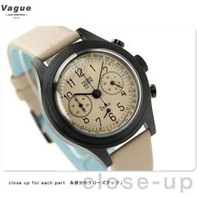 ヴァーグウォッチ ツーアイズ 38mm クロノグラフ 2C-L-001 VAGUE WATCH Co. 腕時計 クオーツ ベージュ レザーベルト