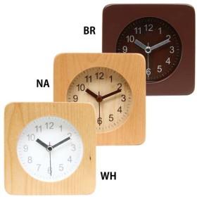 置き時計 置時計 おしゃれ 北欧 アナログ アラームクロック スクエア 32705