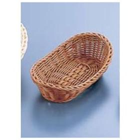 MANYO/萬洋  樹脂バスケット 舟型/26cm ナチュラル(茶)