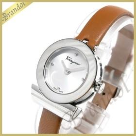 フェラガモ Ferragamo レディース 腕時計 Gancino ガンチーニ 23mm シルバー×ブラウン F43010017