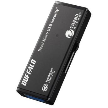 ハードウェア暗号化機能 USB3.0 セキュリティーUSBメモリー ウイルススキャン1年 32GB バッファロー RUF3-HSL32GTV