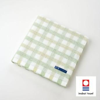 【今治タオル】ポワンチェックバスタオル グリーン (1-60224-11-G)