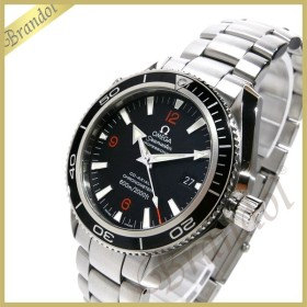 8f50f288735c オメガ OMEGA メンズ腕時計 シーマスター プラネット オーシャン コーアクシャル 自動巻き 42mm ブラック×シルバー 2201.51 [