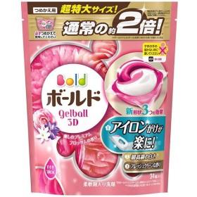 P&G ボールド ジェルボール3D 癒しのプレミアムブロッサムの香り つめかえ用超特大サイズ 34個 PP