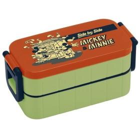 スケーター 弁当箱 2段 600ml 箸付き ランチボックス ミッキー&ミニー バッジコレクション2