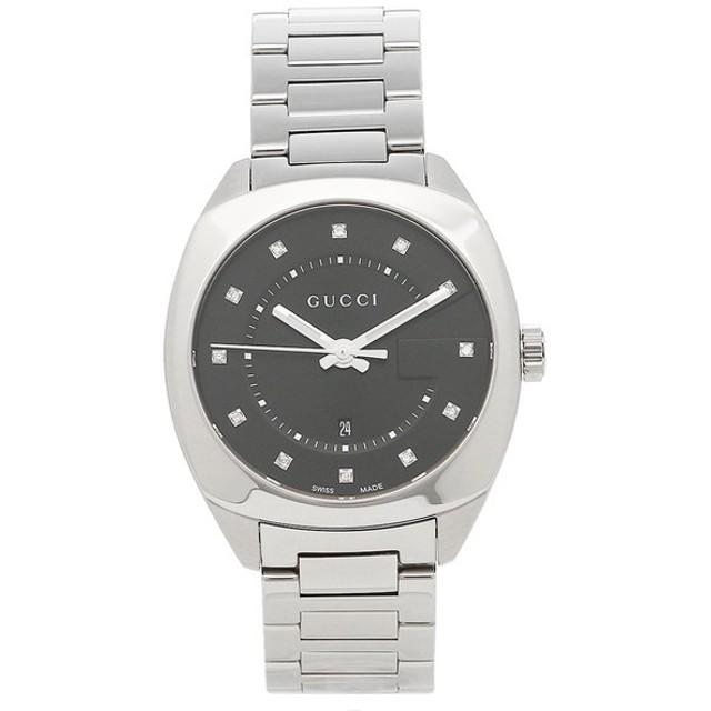 【返品OK】 グッチ 時計 レディース/メンズ GUCCI YA142404 ブラック シルバー