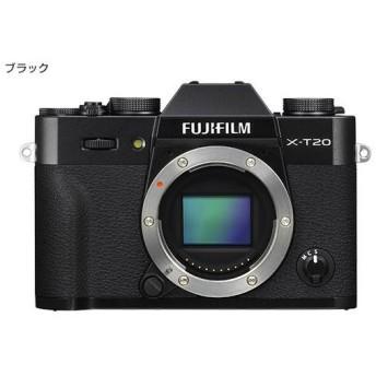 富士フイルム <X>FUJIFILM ミラーレス一眼カメラ X-T20・ボディ(2420万画素/ブラック) X-T20-B 代引不可