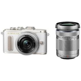 オリンパス EPL8-WKIT-WHT ミラーレスデジタル一眼カメラ「PEN E-PL8」EZダブルズームキット ホワイト