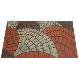 テラモト 4904771105628 玄関マット R2-shell ブラウン 45×75cm