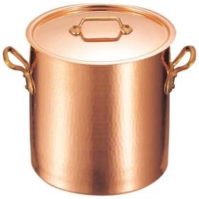 モービル 銅 寸胴鍋 蓋付 2148-28 28cm 代引不可
