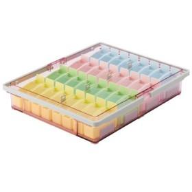 山崎産業 投薬箱 取手付 規格:32人用 仕様:駒 小 ・4色セット
