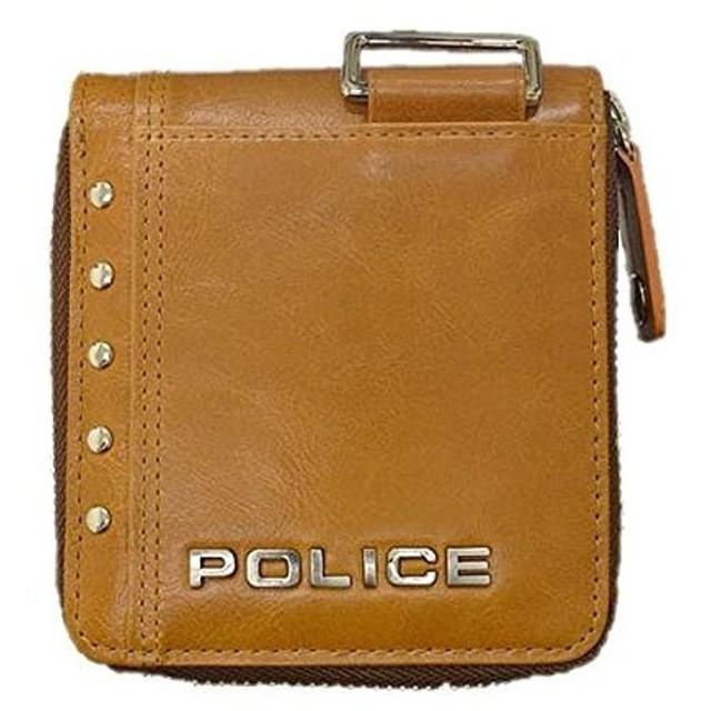 POLICE(ポリス)(正規輸入品)AvoidII 二つ折り財布 キャメル PA-58601-25(メール便不可)