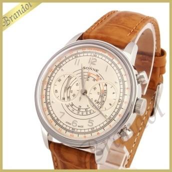 ゾンネ SONNE メンズ腕時計HISTRICAL COLLECTION 国産 クロノグラフ 38mm ライトゴールド×ブラウン HI001SV [取寄品]