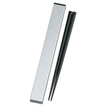 たつみや メタリック 箸箱セット シルバー メタリックシルバー
