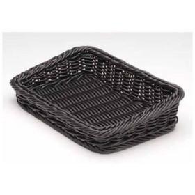 MANYO/萬洋  樹脂製太渕ディスプレイかご 傾斜型 小/黒 91−028B