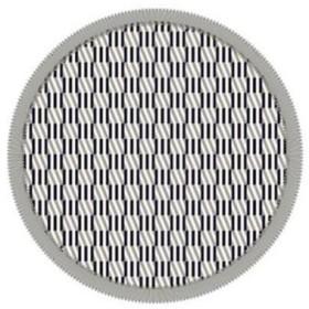 丸眞 ジグザグパターン Zigzag Pattern ラウンドビーチタオル 355048900