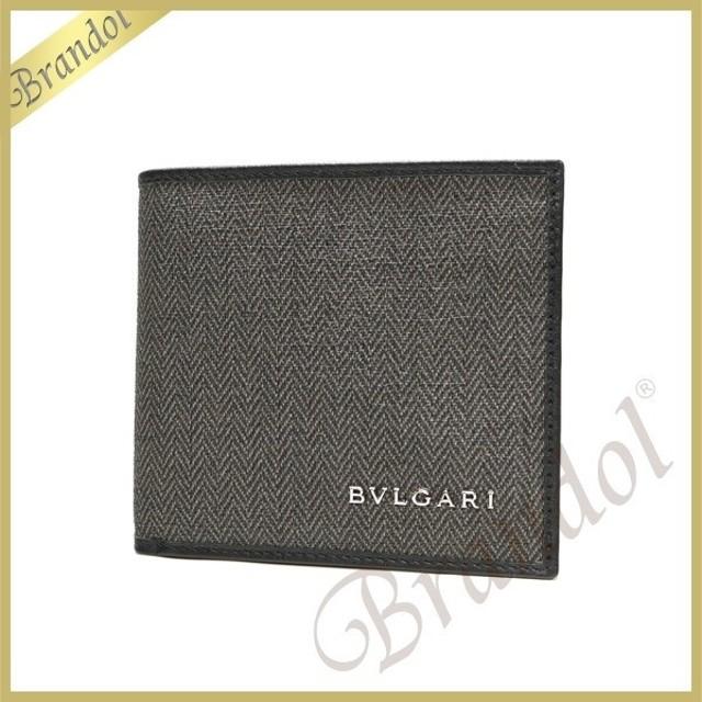8c3df315807c ブルガリ BVLGARI メンズ 二つ折り財布 WEEKEND ウィークエンド キャンバス グレー系 32581 [在庫品]