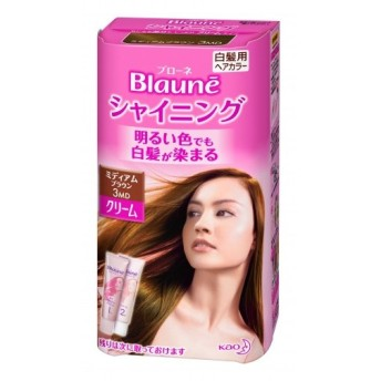 【医薬部外品】ブローネ シャイニングヘアカラー スタイリッシュ クリーム ミディアムブラウン 3MD