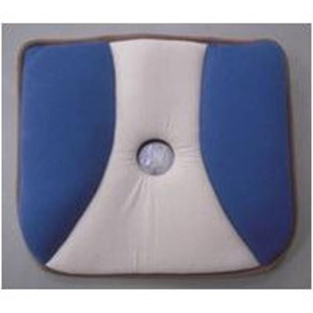 ニット低反発バランスタイプシートクッション ブルー 40×43